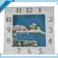树脂工艺品时钟边框挂件 国外建筑特色风景时钟框架 厂家定制批发